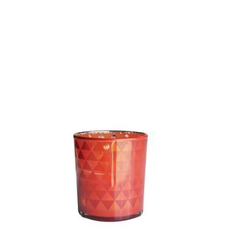 Подсвечник Стеклянный блеск Красно-орнажевого