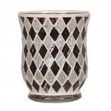 Подсвечник - Черные и белые бриллианты, 11 см